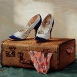 Pamela Carroll , Stepping Out, oil, 16 x 20.