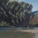 Patrick Duke, Last Hole Hook Up, oil, 16 x 20.