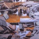 Patrick Duke, Quiet Cascade, oil, 36 x 24.
