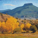 Barry McCuan, Pedernal From Ghost Ranch, oil, 18 x 24.