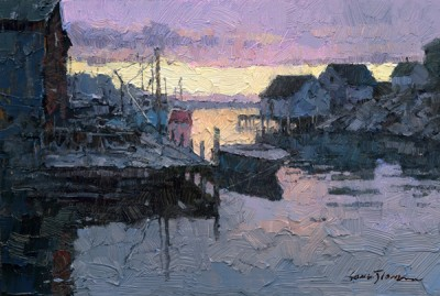 Xiao Song Jiang, Peggys Cove, oil, 4 x 6.