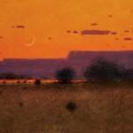 Tom Perkinson, Purple Mesa at Dusk, oil, 12 x 16.
