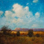Tom Perkinson, Riders, Early Autumn, oil, 10 x 10.