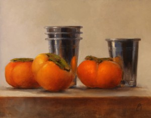 Erin Schulz, Persimmon Reflection, oil, 11 x 14.