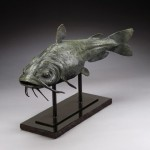 Daniel Glanz, Catfish, bronze, 20 x 12 x 28.