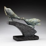 Daniel Glanz, Courtship (Black-browed Albatross), bronze, 13.5 x 16 x 6.