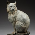 Daniel Glanz, Winter's Paws (Canadian Lynx), bronze, 28 x 20 x 12.5.