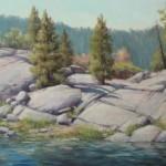 Meisha Grichuhin, Pinecrest Boulders, oil, 18 x 24.