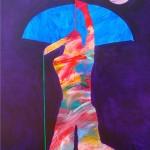 John Nieto, Plains Archer, acrylic, 48 x 36.