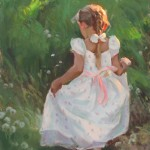 Mike Malm, Playful Wonder, oil, 24 x 12.