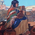 Dennis Ziemienski, Potter at Castenada, oil, 24 x 36.