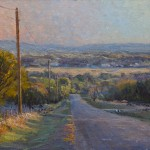 Richard Prather, Hill Country Evening Light, oil, 9 x 12.