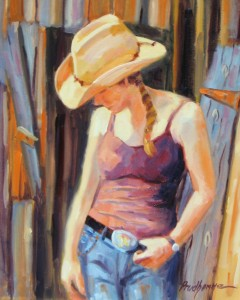 Chuck Prudhomme, Lily, oil, 20 x 16.