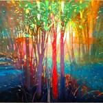 Mark Gould, Quickened Light: Arcadian 941, acrylic, 24 x 30.
