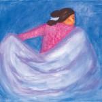 R.C. Gorman, Twilight, oil/pastel, 50 x 43.