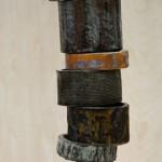 Ranch Rings, ceramic/iron, 18 x 4 x 4.
