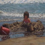 Scott Prior, Red Bucket, oil, 24 x 30.
