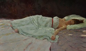 Sleeping, oil, 24 x 40.