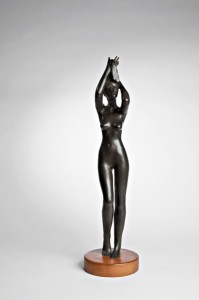 Michael Naranjo, Reflections, bronze, 28 x 7 x 7.