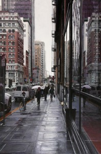 Greg Gandy, Reflections in the Rain, oil, 20 x 30.