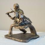 Douglas Reichwein, Music, bronze, 12 x 12 x 9.