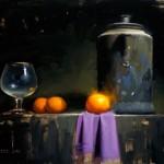 David Cheifetz, Reigning Mandarin, oil painting