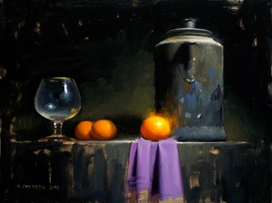 David Cheifetz, Reigning Mandarin, oil, 9 x 12.