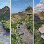 Jivan Lee, Rio Grande, oil, 48 x 80.