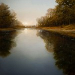 Renato Muccillo | Rise of the South Arm, oil, 30 x 30. Courtesy White Rock Gallery.