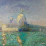 Robert Gamlin, View from San Giorgio, oil, 18 x 24.