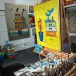 Robert C. Jackson's art studio in Kennett Square, PA