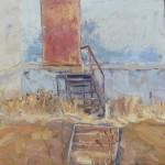 Jenny Jelinek, Rocky Flats, oil, 12 x 12.