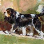 Lindsey Bittner Graham, Rocky, oil, oil, 8 x 8.