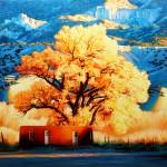 Roger Hayden Johnson, Abiquiu Cottonwood, oil, 36 x 40.