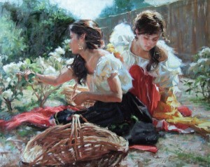 Gladys Roldan-de-Moras, Songs from a Secret Garden, oil, 22 x 28.