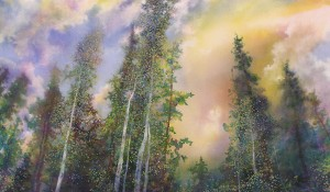 Angus Macpherson, Saints, acrylic, 24 x 40.