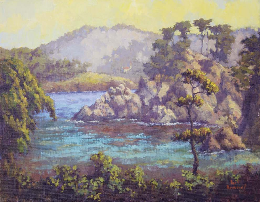 Point Lobos, Carmel Coast, CA, oil on panel, 14 x 18.