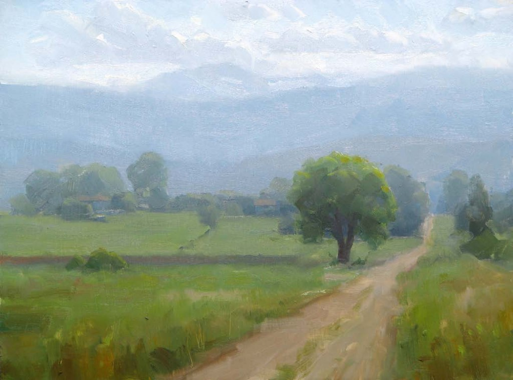 Front Range Afternoon (plein-air study), oil, 9 x 12.