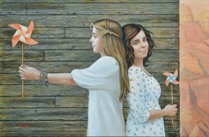 Olga & Aleksey Ivanov, Southwest Wind, egg tempera, 24 x 36