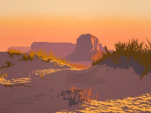 Bill Schenck, Dawn in the Sand Dunes, oil, 40 x 53.