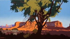 Bill Schenck, Land of the Searchers, oil, 22 x 40.