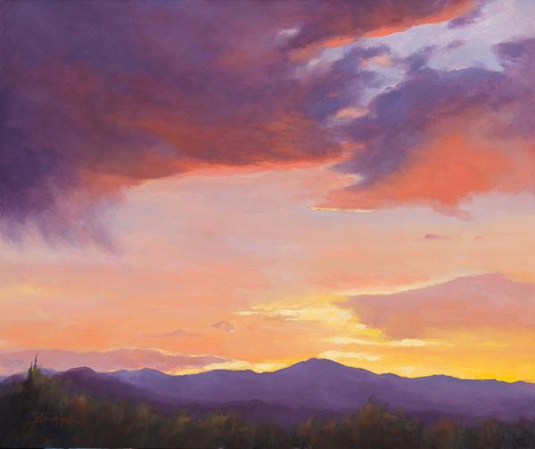 Terri Sanchez, Evening Glow, oil, 20 x 24.