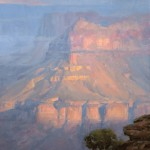 Dave Santillanes, Daybreak at Cedar Ridge, oil, 20 x 16.