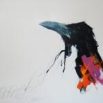 Sarah Rogers, Listen, watercolor painting