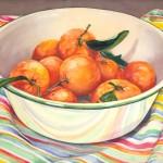 Satsuma Mandarins, watercolor, 17 x 21.