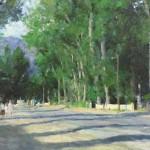 Richard Schmid, Taos Street, oil, 20 x 30. Estimated: $15,000-$20,000.