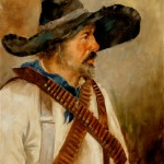 Clement Scott, El Bandito, western oil painting