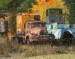 Xiao Song Jiang, Scrap Yard, oil, 12 x 15.