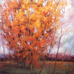 Matthew Higginbotham, Season's Reverence, oil, 30 x 30.