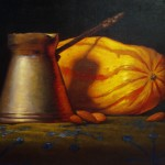 Chris Sedgwick, The Squash, oil, 8 x 10.